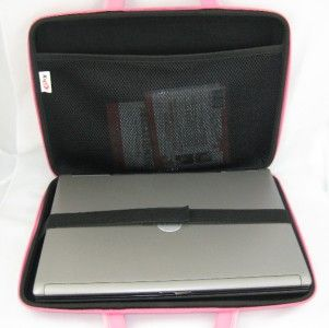 Kroo Hard Sided Laptop Netbook Case Nylon 10 13 Pink