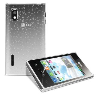 3D Rain Drop Design Hard Case Cover for LG E610 Optimus L5 Film