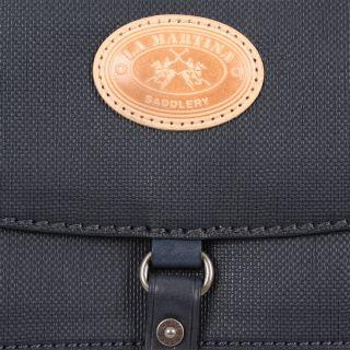 La Martina Woman Shoulder Bag San Telmo Genuine Blue Leather New 2012