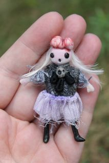 OOAK Gothic Fairy Tale Monster Zombie Posable Art Doll A Gibbons Goth