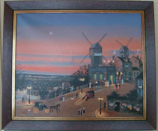 Michel Delacroix Le Vie En Rose Hand Signed Deluxe Serigraph on
