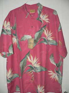 New Tommy Bahama Ladybird Springs Silk Camp Shirt XXL