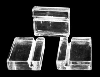 Set of 12 1¼ Clear Acrylic Mineral Label Holders