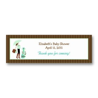 Mom (Green) Baby Shower Favor Tag business cards by allpetscherished