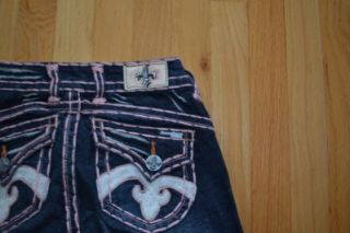 Laguna Beach Crystal Cove Jeans with Pink Stitching Sz 24x36