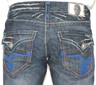 New Mens Laguna Beach Jeans ALISO Beach Bootcut Blue Stitch 32