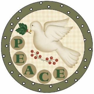Peace Dove Christmas Tree Ornament Acrylic Cut Outs