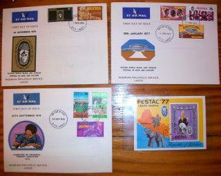 Lagos Nigeria Stamp FDC 1970s Festac 77 Nigerian Philatelic Service