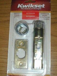 Kwikset Exterior Door Adjustable Dead Latch Polished Brass New 81825
