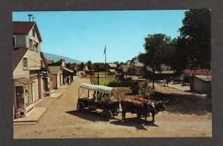 UT Pioneer Village Salt Lake City Utah Postcard PC Oxen