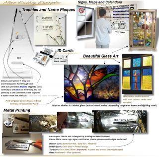 Clear Laser Printer Labels Glass Metal Wall Sticker Art