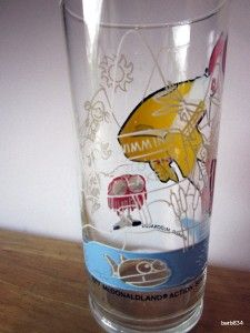 MCDONALDLAND ACTION SERIES PROMOTIONAL GLASS RONALD MCDONALD 1977