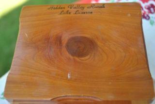 Wood Souvenir Trinket Jewelry Box Hidden Valley Ranch Lake Luzerne NY