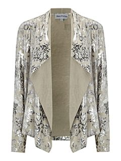 Mary Portas The Animal Print Waterfall Jacket Silver