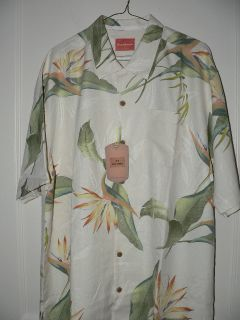 New Tommy Bahama Ladybird Springs Silk Camp Shirt L
