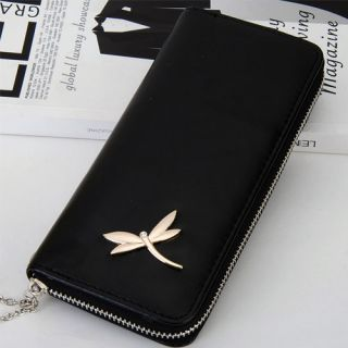 Lady Long PU Wallet New Dragonfly Design 6 Colors Clutch Bag Purse