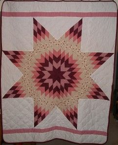 LAKOTA Sioux Native American Star Quilt 62 x 78