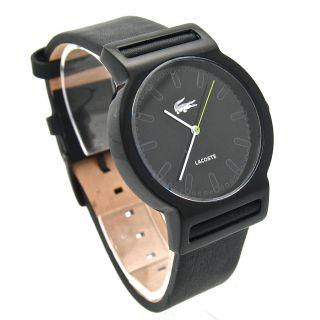 Latest Lacoste Sportswear Tokyo Black Leather Mens Unisex Watch