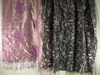 Shawl Wrap 1 Echo Design 1 La Fiorentina Rayon Wool Womens