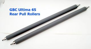 Pair GBC HeatSeal Ultima 65 Roll Laminator Rear Pull Rollers