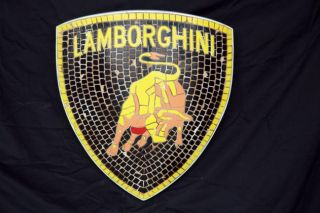 Lamborghini Emblem Wall Plaque Decor Auto Sign Display Looks Like