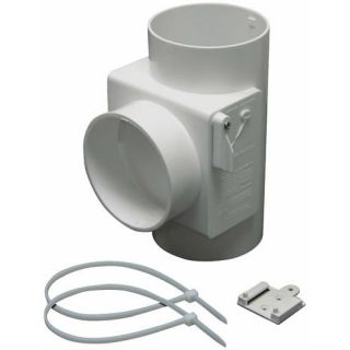 Lambro 1700 Heat Economizer White Plastic Dryer Vent Use with Electric