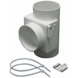 Lambro 1700 Heat Economizer White Plastic Dryer Vent Use with Electric