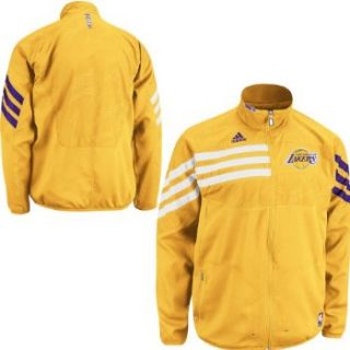 Los Angeles Lakers Gold on Court Warm Up Jacket M