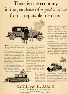 1930 Ad Cadillac La Salle Antique Quality Used Cars   ORIGINAL