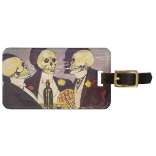 Gambling Skeletons Tags For Bags