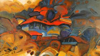 Ordev ~ Contemporary Macedonian Artist Abstract Landscape Painting
