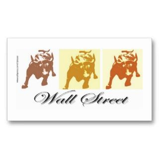 Wall Street Dead End Business Card Templates