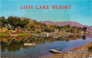 Blythe California Lost Lake Resort Waterfront Postcard
