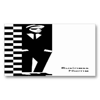rude boy  ska business card template