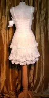 Jessica McClintock Ivory Lacy Gown Dress Formal 6