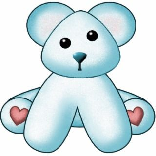 Blue Teddy Bear Wall Sculpture Acrylic Cut Outs