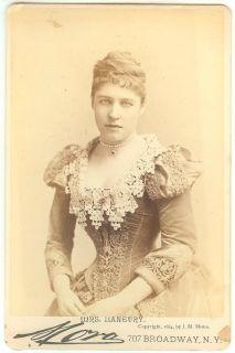 Lillie Langtry RARE 1884 Jose Mora Cabinet Photo