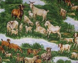 Goat Quilt Fabric Timeless Treasures C8139