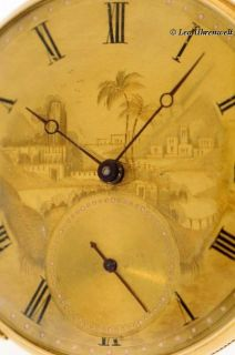 Decorative Remarkable Montadon Freres 18K Gold Pocket Watch