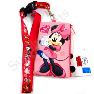 Disney Minnie Mouse iPhone Size Pouch and Lanyard in Pink