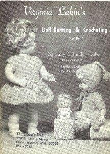 1966 Virginia Lakins Doll Knit & Crochet Pattern Book 7    Troll Doll