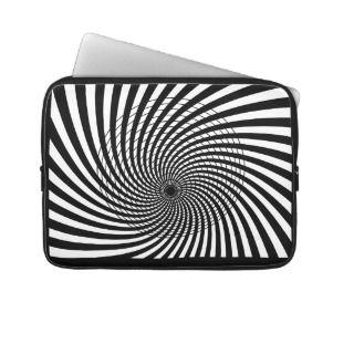 OPTICAL ILLUSION Retro Art Laptop Sleeve