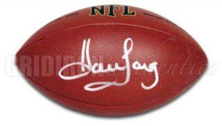Howie Long Oakland Raiders Autographed Wilson Football GA