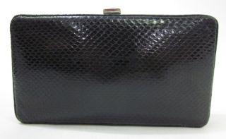 LAMBERTSON Truex Black Python Small Clutch Handbag