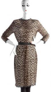 2K Worn Once Lanvin Leopard Print T Shirt Long Sleeve Knee Dress TPF