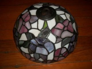 Stained Slag Glass Leaded Replacement Lamp Shade