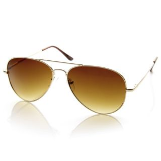 Large Metal Aviator Sunglasses Premium Zerouv Spring Temples 1377 58mm