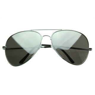 New Super Oversize Large Metal Mirror Lens Aviator Sunglasses 64mm