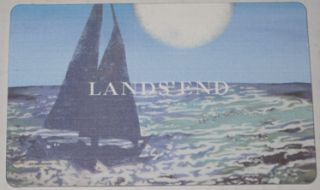 Lands End  Kmart Collectible Gift Card No Value New Sail Boat