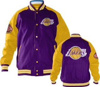 Los Angeles Lakers Purple Snap Front Varsity Reversible Jacket